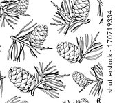 seamless pattern with pine... | Shutterstock .eps vector #170719334