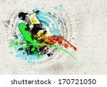 graffiti style image of... | Shutterstock . vector #170721050