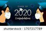 class of 2020 congratulation... | Shutterstock .eps vector #1707217789