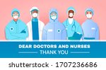 thank you tribute or card to... | Shutterstock .eps vector #1707236686