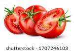 Tomatoes Isolated On White...