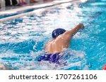 Swimming Pool Athlete Training...