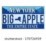 an imitation new york license... | Shutterstock .eps vector #170726939