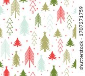 christmas seamless pattern with ... | Shutterstock .eps vector #1707271759