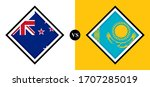 flags icons  new zealand vs... | Shutterstock .eps vector #1707285019
