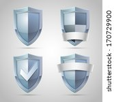 set of shield icons for...