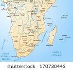 map of africa as an overview... | Shutterstock . vector #170730443