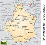 map of center as an overview... | Shutterstock . vector #170730530