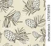 pine seamless pattern | Shutterstock .eps vector #170730953