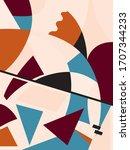 modern abstract decorative... | Shutterstock .eps vector #1707344233