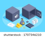 isometric vector image on a... | Shutterstock .eps vector #1707346210