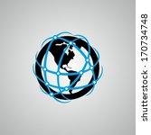 global communication | Shutterstock .eps vector #170734748