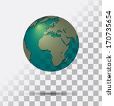 a transparent earth globe ... | Shutterstock .eps vector #170735654
