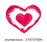 red heart by watercolor on... | Shutterstock . vector #170737004