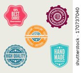set of retro labels and signs. | Shutterstock .eps vector #170737040