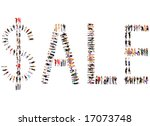 sale sign made of 100 people  ... | Shutterstock . vector #17073748