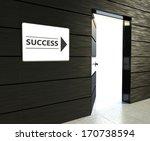 success sign hanging near... | Shutterstock . vector #170738594