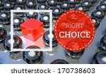 right choice business unique... | Shutterstock . vector #170738603
