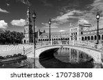 spanish square in sevilla ... | Shutterstock . vector #170738708