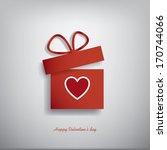 valentine's day concept... | Shutterstock .eps vector #170744066
