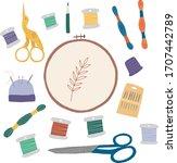 vector handmade illustration... | Shutterstock .eps vector #1707442789