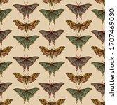 A Pattern Of Butterflies On A...