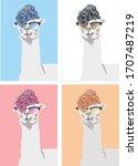 Fashion Llama Alpaca With...
