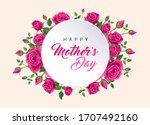 happy mother's day banner.... | Shutterstock .eps vector #1707492160
