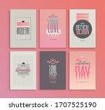set of vector bright pink...   Shutterstock .eps vector #1707525190