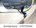skateboarder in action on...   Shutterstock . vector #170755340