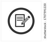 pencil flat icon. symbol of...