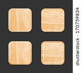 wooden app icon template set....