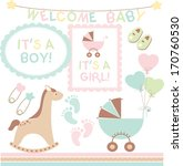 new baby announcement | Shutterstock .eps vector #170760530