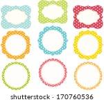 polkadot frame | Shutterstock .eps vector #170760536