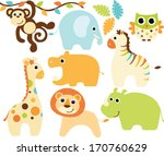 baby safari animals   boy | Shutterstock .eps vector #170760629