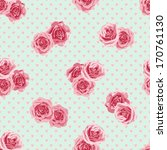 seamless pattern with roses.... | Shutterstock .eps vector #170761130