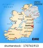 map of ireland as an overview... | Shutterstock . vector #170761913