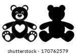 Silhouette Of A Bear. Vector...