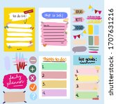 daily planner cute and colorful ... | Shutterstock . vector #1707631216