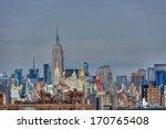 manhattan skyline   new york... | Shutterstock . vector #170765408