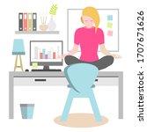 remember to take regular breaks ... | Shutterstock .eps vector #1707671626