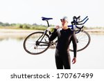 triathlonist preparing for the... | Shutterstock . vector #170767499