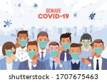Beware Of Covid 19 Poster With...