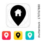 map pin with home icon. vector...