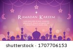 ramadan kareem background... | Shutterstock .eps vector #1707706153
