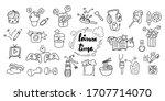 cute hand draw doodle art of...   Shutterstock .eps vector #1707714070