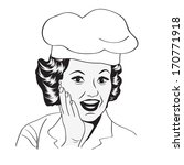 lady chef   retro illustration... | Shutterstock .eps vector #170771918