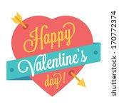 vector happy valentine's day...   Shutterstock .eps vector #170772374