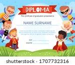 layout of children's diploma... | Shutterstock .eps vector #1707732316
