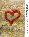 Heart Graffiti On A Yellow...